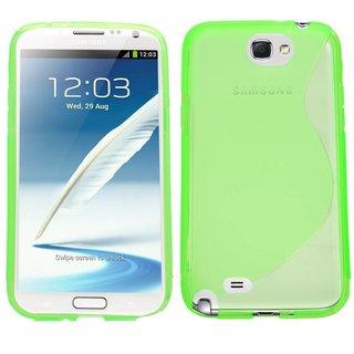 Samsung Galaxy Note 2 siliconen S-line (gel) achterkant hoesje - Groen