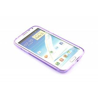 Samsung Galaxy Note 2 siliconen S-line (gel) achterkant hoesje - Blauw / Roze / Paars