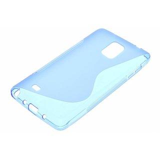 Samsung Galaxy Note 4 siliconen S-line (gel) achterkant hoesje - Blauw / Roze / Wit