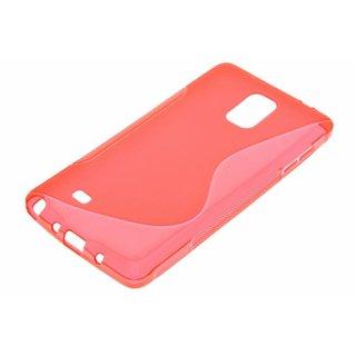 Samsung Galaxy Note 4 siliconen S-line (gel) achterkant hoesje - Rood / Zwart