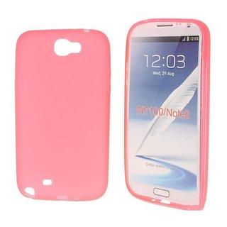 Samsung Galaxy Note 2 siliconen (gel) achterkant hoesje - Roze / Groen