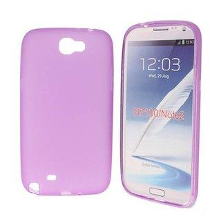 Samsung Galaxy Note 2 siliconen (gel) achterkant hoesje - Paars / Blauw