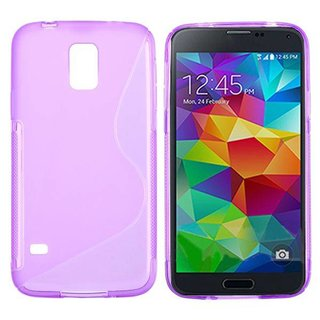 Samsung Galaxy S5 Neo / (Plus) siliconen S-line (gel) achterkant hoesje - Paars / Roze