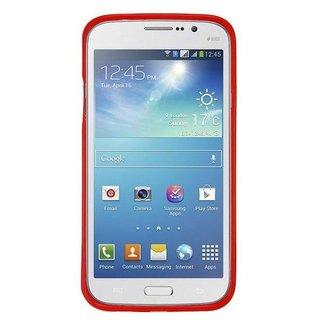 Samsung Galaxy Mega 5.8 siliconen (gel) achterkant hoesje - Roze / Rood