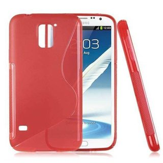 Samsung Galaxy S5 siliconen S-line (gel) achterkant hoesje - Rood / Zwart / Roze