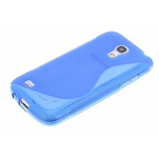 Samsung Galaxy S4 Mini siliconen S-line (gel) achterkant hoesje - Blauw / Rood / Paars