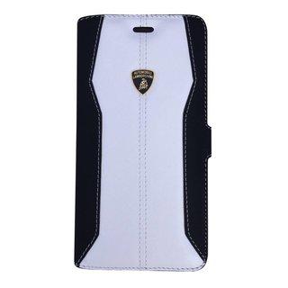 Huracan Bookcase hoesje voor de Apple iPhone 6 / 6S - Zwart / Wit