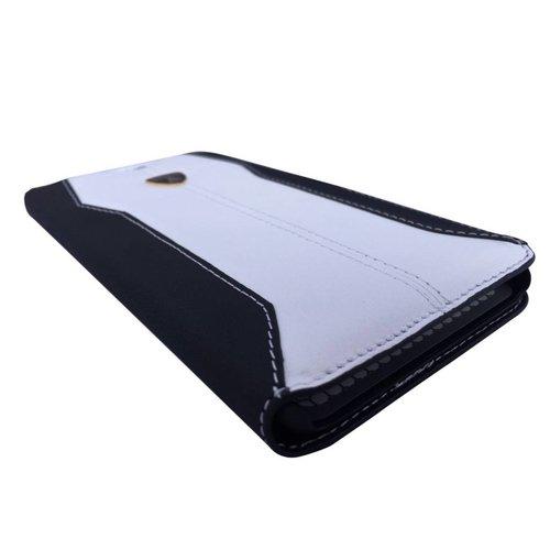 Automobili Lamborghini Huracan Bookcase hoesje voor de Apple iPhone 6 / 6S - Zwart / Wit