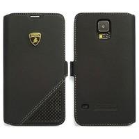 Automobili Lamborghini Aventador D6 Bookcase hoesje voor de Samsung Galaxy S5 - Zwart