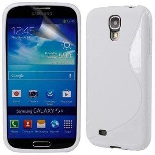 Samsung Galaxy S4 siliconen S-line (gel) achterkant hoesje - Wit