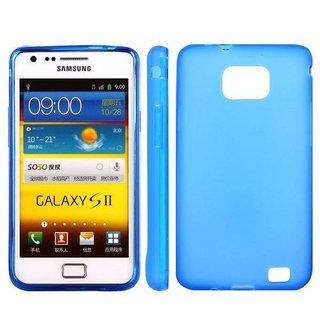 Samsung Galaxy S2 siliconen (gel) achterkant hoesje - Blauw