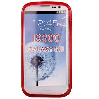 Samsung Galaxy S3 siliconen S-line (gel) achterkant hoesje - Rood