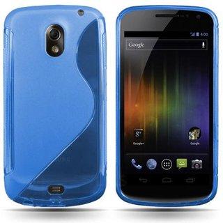 Samsung Galaxy Nexus siliconen S-Line (gel) achterkant hoesje - Blauw