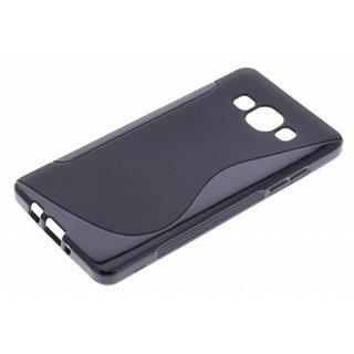 Samsung Galaxy A5 siliconen S-Line (gel) achterkant hoesje - Zwart