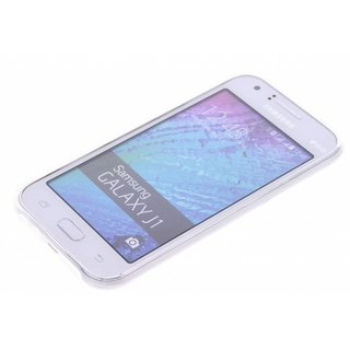 Samsung Galaxy J1 siliconen (gel) achterkant hoesje - Transparant