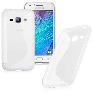 Samsung Galaxy J1 siliconen S-Line (gel) achterkant hoesje - Wit