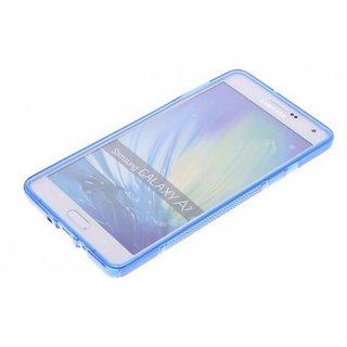 Samsung Galaxy A7 siliconen S-Line (gel) achterkant hoesje - Blauw
