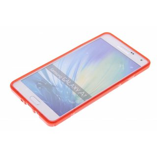 Samsung Galaxy A7 siliconen S-Line (gel) achterkant hoesje - Rood
