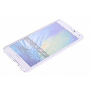 Samsung Galaxy A7 siliconen S-Line (gel) achterkant hoesje - Wit