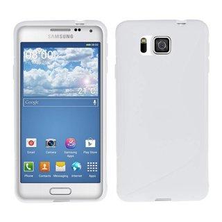Samsung Galaxy Alpha siliconen S-Line (gel) achterkant hoesje - Wit
