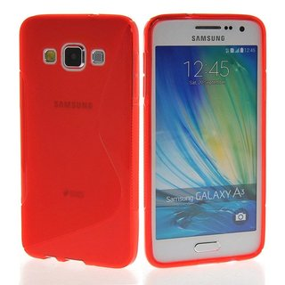 Samsung Galaxy A3 siliconen S-Line (gel) achterkant hoesje - Rood