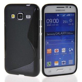 Samsung Galaxy Core Prime siliconen S-Line (gel) achterkant hoesje - Zwart