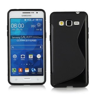 Samsung Galaxy Grand Prime siliconen S-line (gel) achterkant hoesje - Zwart