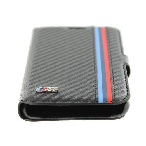 BMW M collectie Carbon Bookcase hoesje met strepen voor de Samsung Galaxy S6