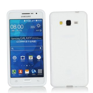 Samsung Galaxy Grand Prime siliconen S-line (gel) achterkant hoesje - Wit
