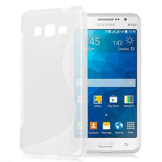 Samsung Galaxy Grand Prime siliconen S-line (gel) achterkant hoesje - Transparant