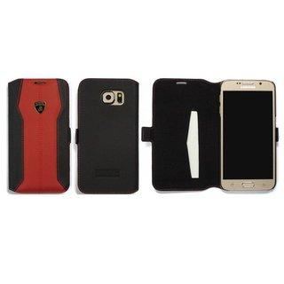 Huracan D1 Bookcase hoesje voor de Samsung Galaxy S6 - Zwart / Rood