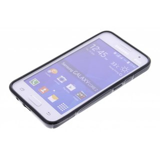 Samsung Galaxy Core 2 siliconen S-line (gel) achterkant hoesje - Zwart