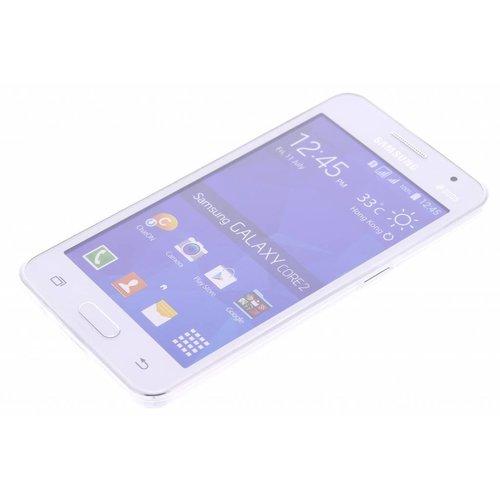 Samsung Galaxy Core 2 siliconen (gel) achterkant hoesje - Transparant
