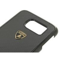 Automobili Lamborghini Carbon Fiber Hardcase achterkant hoesje voor de Samsung Galaxy S6 - Zwart