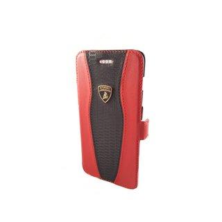 Huracan D2 Bookcase hoesje voor de Apple iPhone 6 / 6S - Zwart / Rood