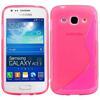 Samsung Galaxy Ace 3 siliconen S-line (gel) achterkant hoesje - Roze