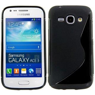Samsung Galaxy Ace 3 siliconen S-line (gel) achterkant hoesje - Zwart