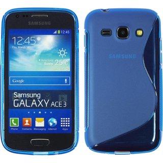 Samsung Galaxy Ace 3 siliconen S-line (gel) achterkant hoesje - Blauw
