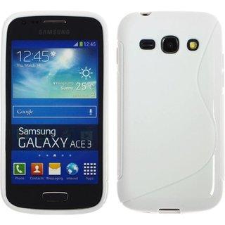 Samsung Galaxy Ace 3 siliconen S-line (gel) achterkant hoesje - Wit