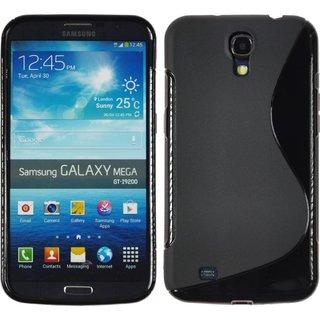 Samsung Galaxy Mega 6.3 siliconen S-line (gel) achterkant hoesje - Zwart