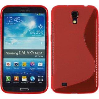 Samsung Galaxy Mega 6.3 siliconen S-line (gel) achterkant hoesje - Rood