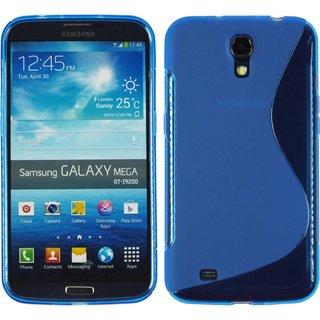 Samsung Galaxy Mega 6.3 siliconen S-line (gel) achterkant hoesje - Blauw
