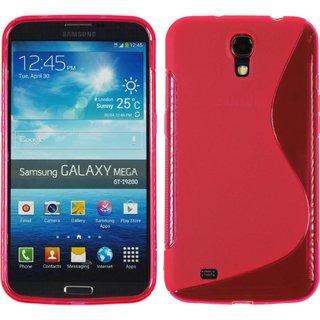 Samsung Galaxy Mega 6.3 siliconen S-line (gel) achterkant hoesje - Roze