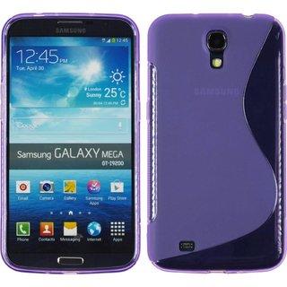 Samsung Galaxy Mega 6.3 siliconen S-line (gel) achterkant hoesje - Paars