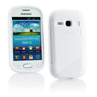 Samsung Galaxy Fame siliconen S-line (gel) achterkant hoesje - Wit