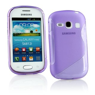 Samsung Galaxy Fame siliconen S-line (gel) achterkant hoesje - Paars