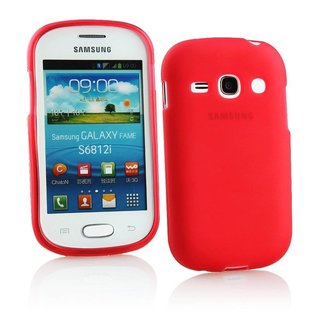 Samsung Galaxy Fame siliconen (gel) achterkant hoesje - Rood