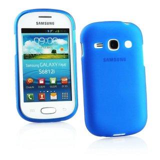 Samsung Galaxy Fame siliconen (gel) achterkant hoesje - Blauw