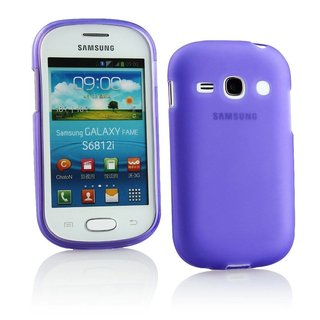 Samsung Galaxy Fame siliconen (gel) achterkant hoesje - Paars