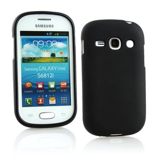 Samsung Galaxy Fame siliconen (gel) achterkant hoesje - Zwart